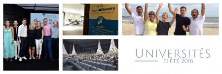 Les universités d'été 2016