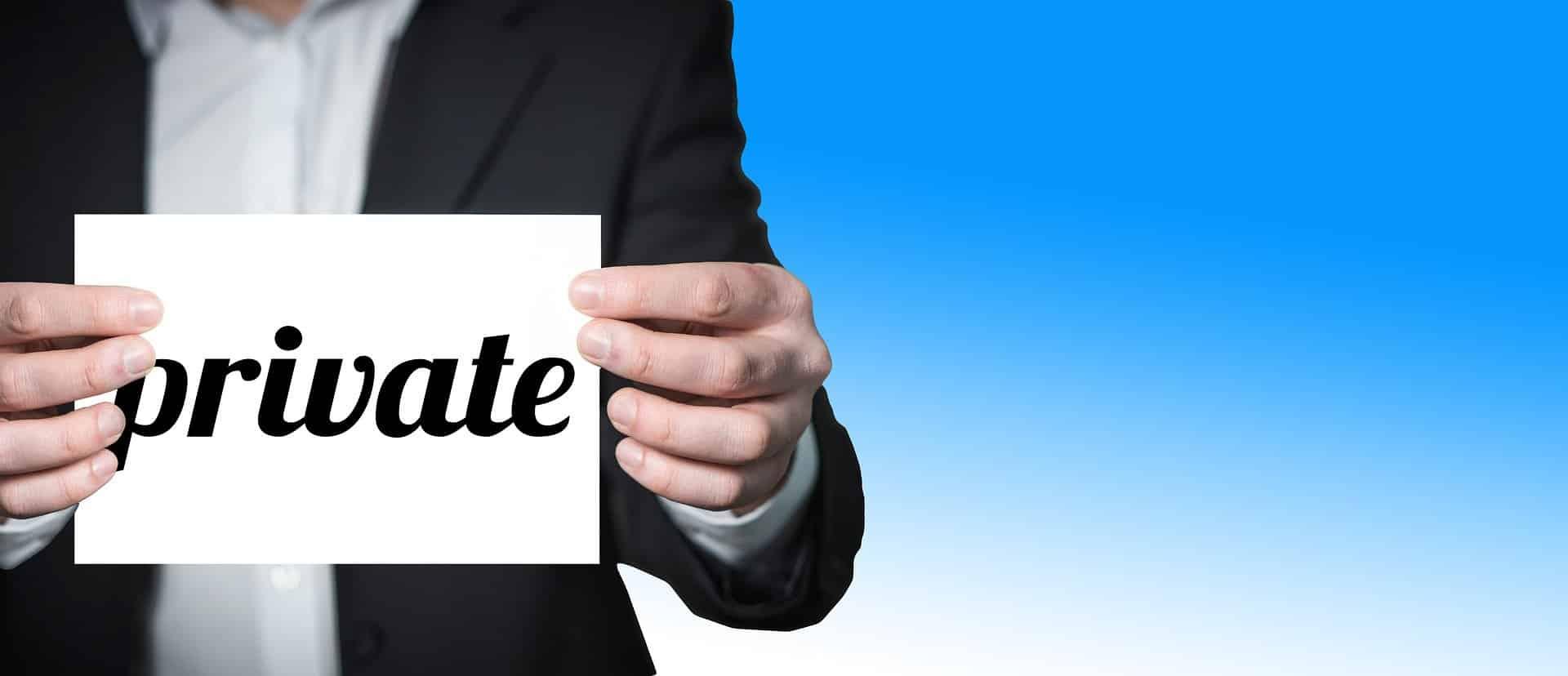 Déclaration de confidentialité des comptes annuels